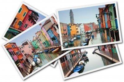 6887658-le-ile-de-burano-venise-italie--30-decembre-2009--un-collage-faite-avec-quelques-photos-de-le-ile-de