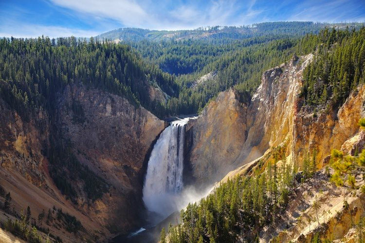 Autumn-to-Yellowstone-national-park.-The-well-known-mountain-falls-the-river-and-forest