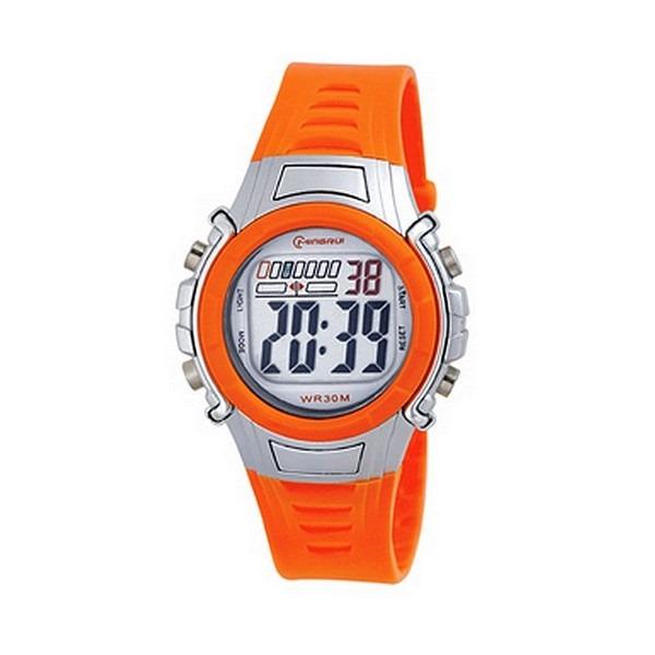 montre-digital-femme-enfant-bracelet-plastique-orange-cadran-rond-fond-gris-et-orange-marque-mingrui-mr8516