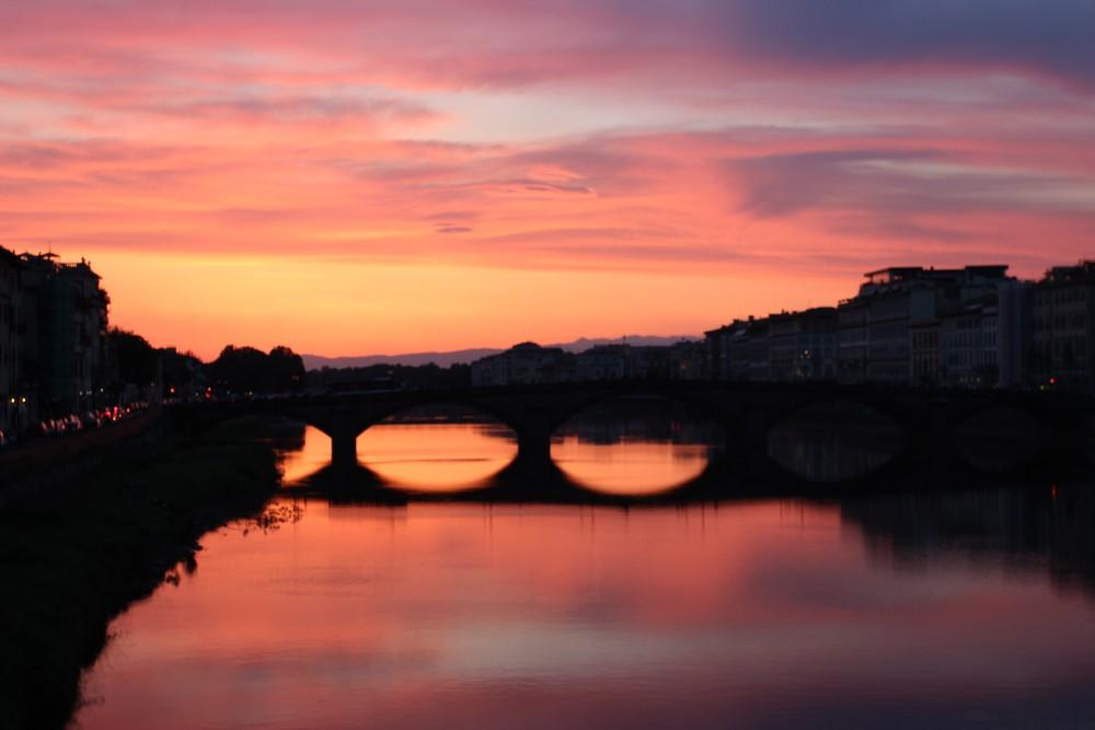 Arno coucher soleil
